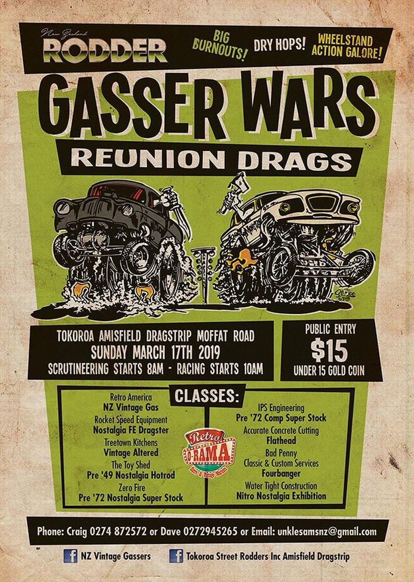 Rodder Gasser Wars - Reunion Drags | Ajay's Ford V8 Parts